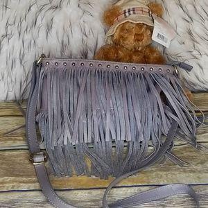 PARADOX Leather Fringed Crossbody Bag